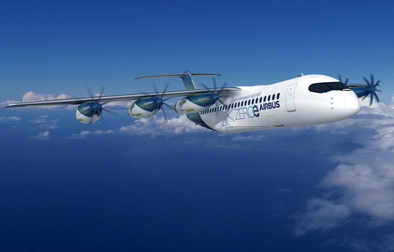 Airbus Konzeptflugzeug Zeroe Wasserstoff