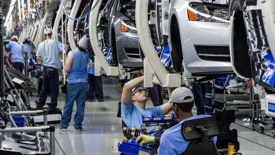 Volkswagen-Fertigung in den USA: Der Autobauer verkauft in diesem Jahr wohl so viele Fahrzeuge wie nie zuvor