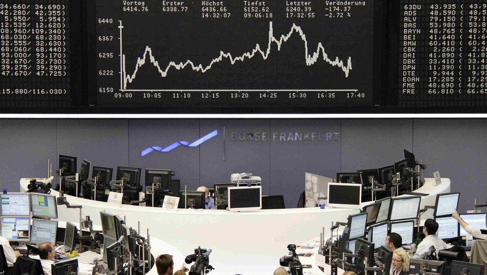 Börse in Frankfurt: Die Commerzbank steht heute wieder besonders im Fokus der Händler