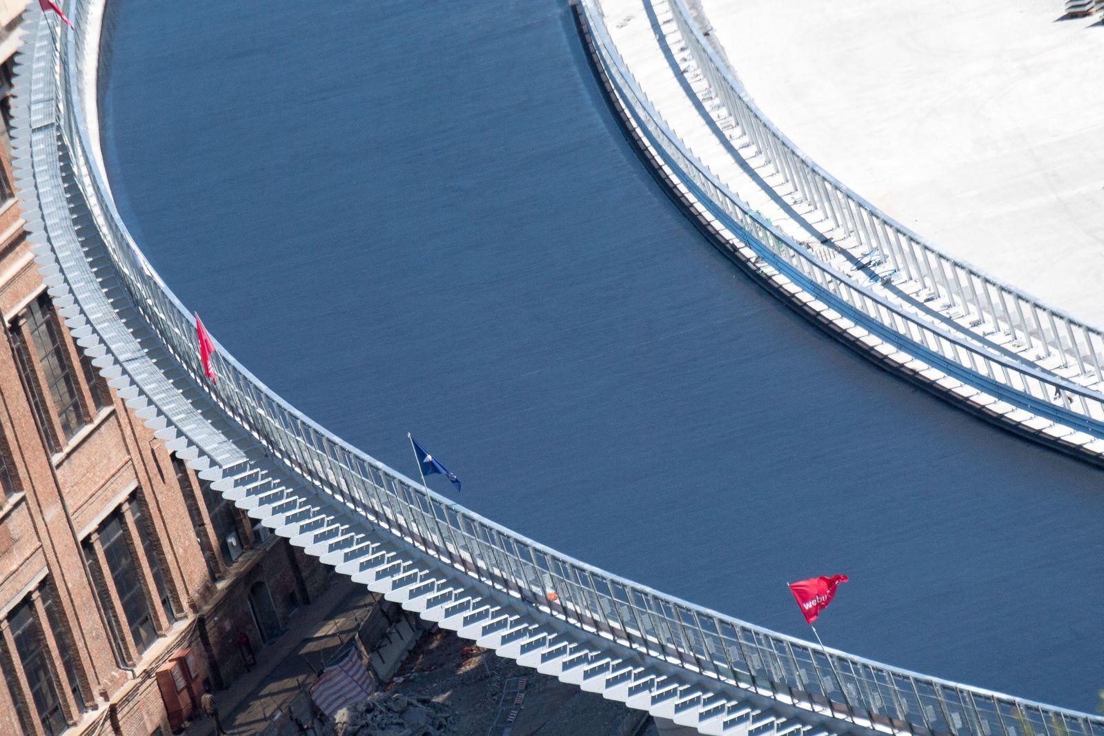 Construction progress of new Genoa bridge, Genova, Italy - 07 Jul 2020