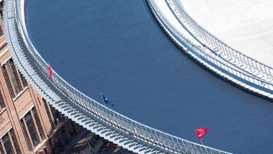 Neubau der 2018 eingestürzten Morandi-Brücke in Genua (Bild vom 7. Juli 2020)