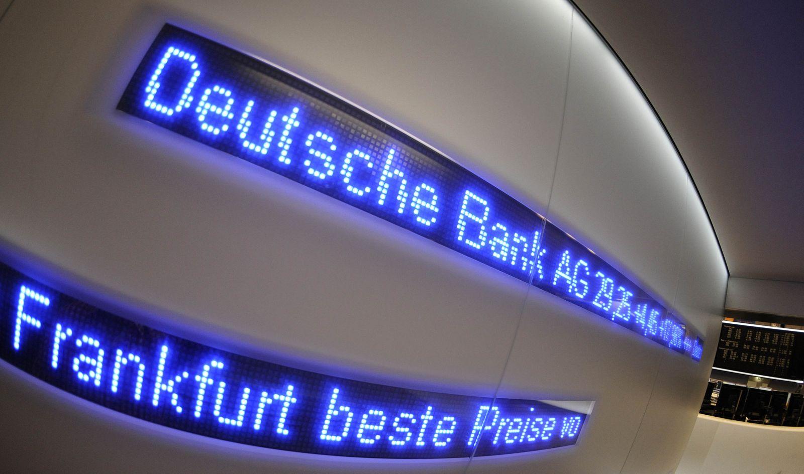 LED Anzeige / Deutsche Bank / Börse