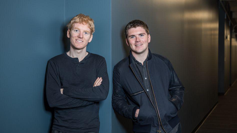 Längst Milliardäre: Stripe-Gründer John Collison (rechts) und Bruder Patrick (Bild Archiv)