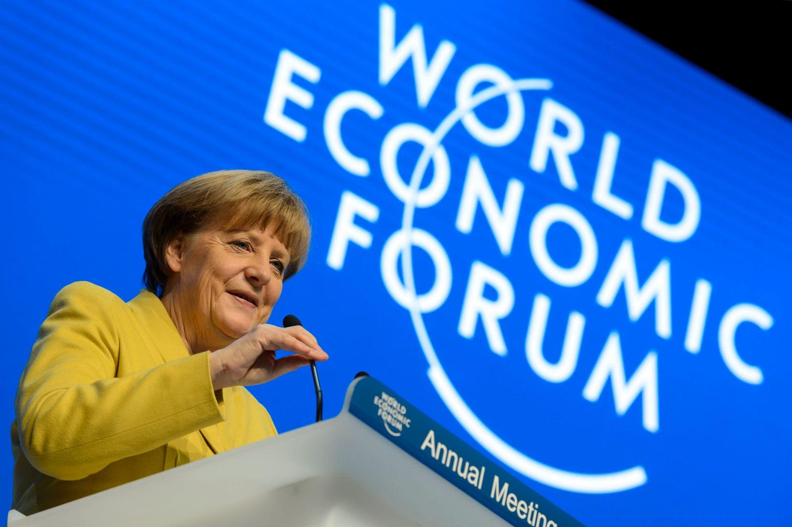 Davos/ Merkel