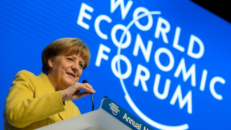 """Merkel fordert eine schnellere Verschmelzung von Industrie und Digitalisierung: """"Sonst werden uns diejenigen, die führend im digitalen Bereich sind, uns die industrielle Produktion wegnehmen"""""""