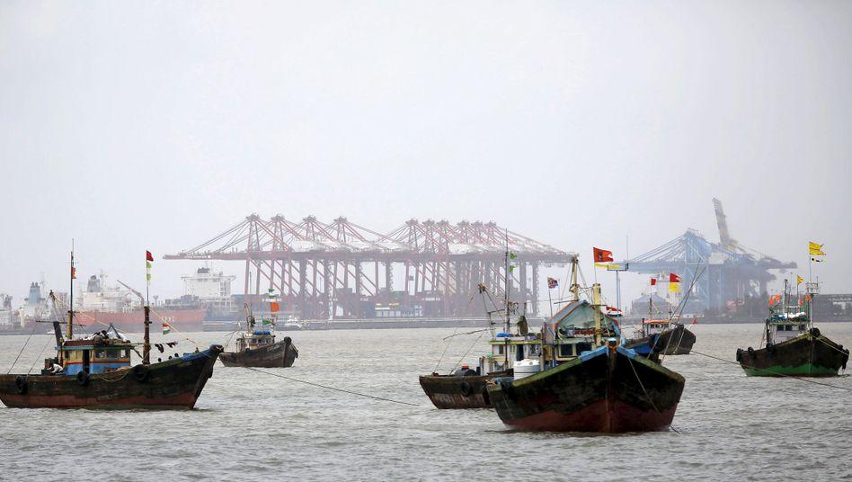 Hafen in Indien: Rund um den Globus floriert der Austausch von Waren und Dienstleistungen