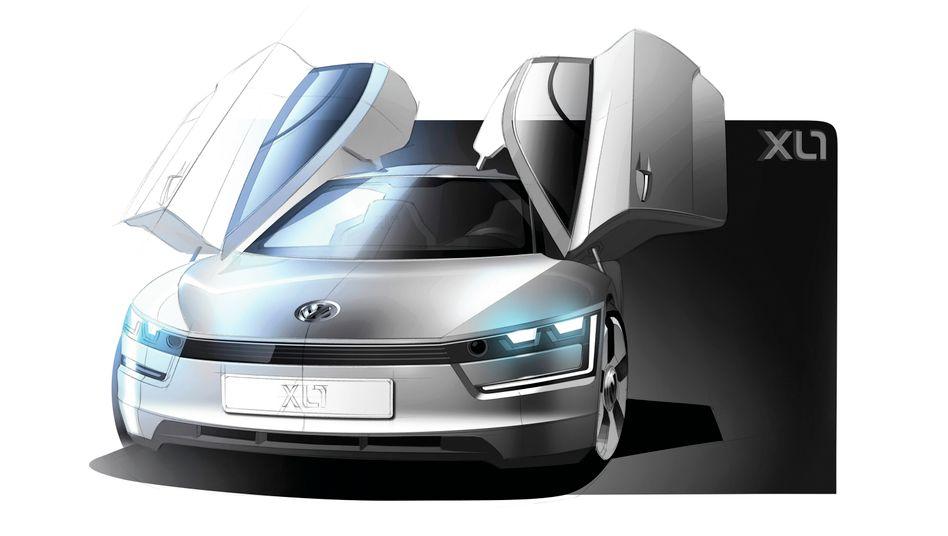 VW-Studie XL1: Der neue Einsitzer von Volkswagen soll noch sparsamer werden