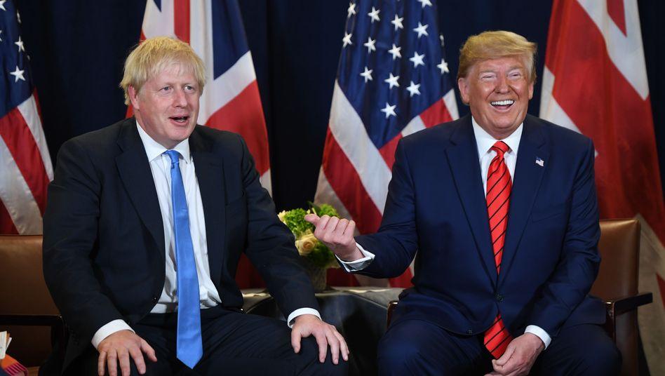 Politisch und populistisch auf einer Linie: US-Präsident Donald Trump und Wahlsieger Boris Johnson (Archiv)