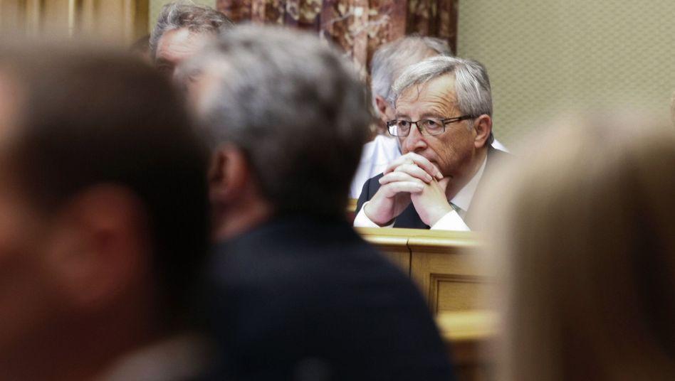 Vertrauen verloren: Jean-Claude Juncker im Luxemburger Parlament