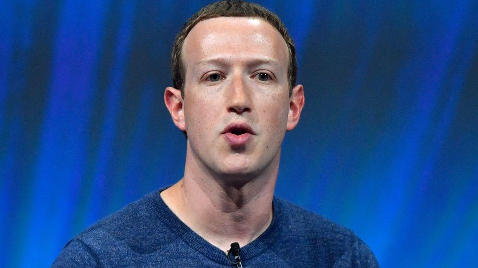 Facebook-Chef Mark Zuckerberg bei einem Auftritt in Paris