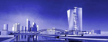 Futuristisch: Prix-Entwurf für den EZB-Neubau in Frankfurt
