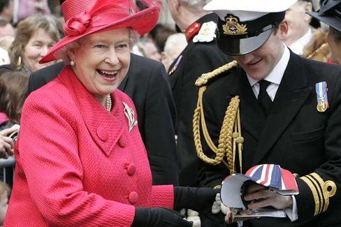 Bullish von Amts wegen: Die britische Königin