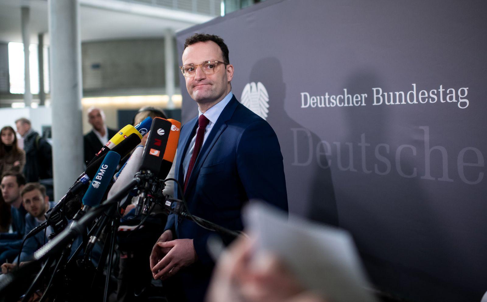 Statement Gesundheitsminister Spahn