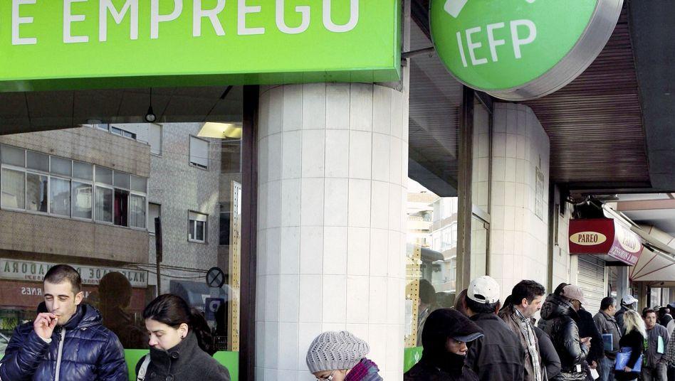 Arbeitslose in Lissabon: Derzeit hohe Zahl an Jobsuchenden in Europa