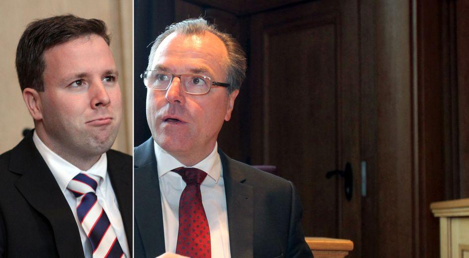 Machtkampf: Clemens Tönnies (r) und Neffe Robert (l) ringen um die Macht im Schlachtimperium