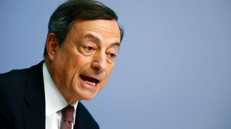 EZB-Präsident Mario Draghi: Die Zentralbank könnte die Geldflut künftig noch ausweiten