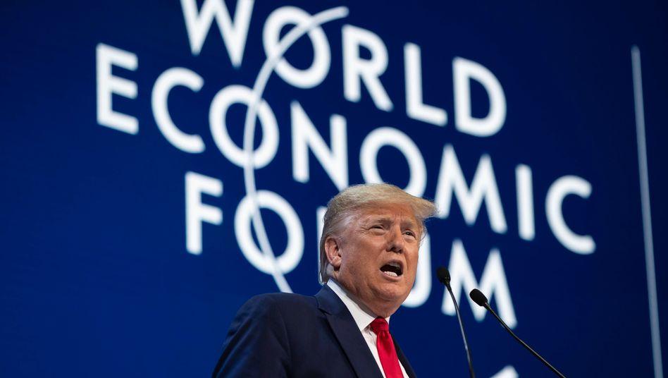 Erhöhte den Druck auf die EU schon beim World Economic Forum Ende Januar