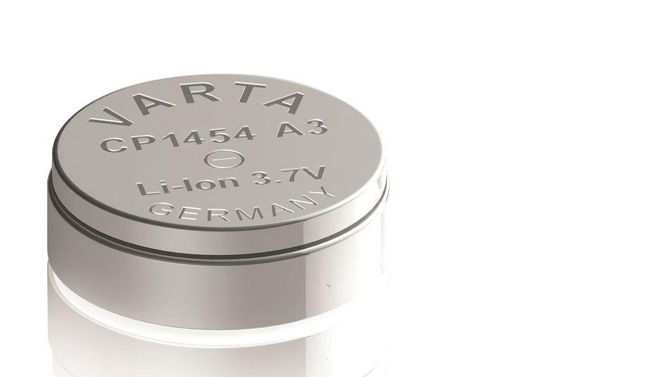 Lithium-Ionen-Knopfzelle von Varta: Die Batterien sind beispielsweise in vielen kabellosen Kopfhörern verbaut