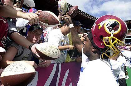 Königsmacher: Fans der Washington Redskins feuern ihre Manschaft an