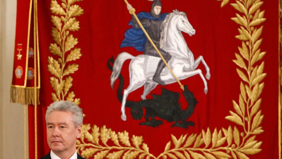 Alter und neuer Bürgermeister Moskaus: Sergej Sobjanin hat sich bei der Wahl durchgesetzt