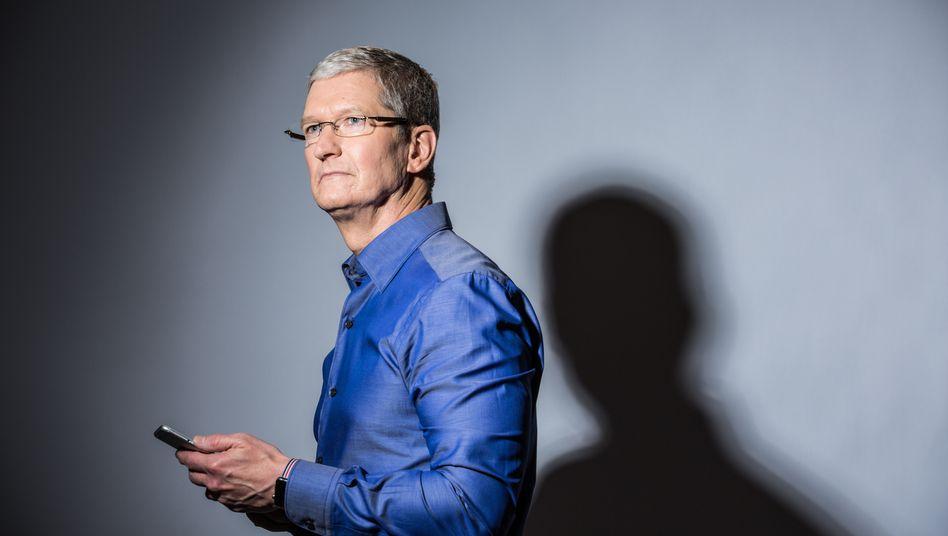 """Nur das Beste: Bei der Entwicklung des Apple Car fordert Vorstandschef Tim Cook von seinen Ingenieuren nur """"das Beste vom Besten"""", berichten Beteiligte. Nicht erlaubt: Standard."""
