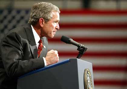 Kündigt schärfere Strafen für Wirtschaftskriminelle an: US-Präsident Bush.
