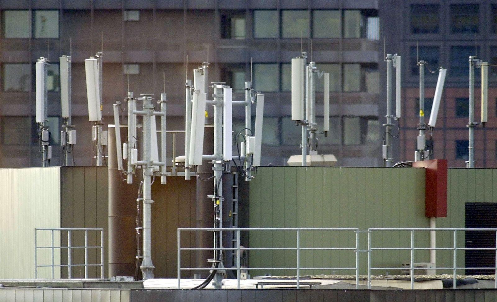 Mobilfunk / Antennen / Sendemast / Frankfurt
