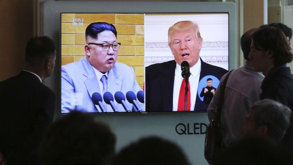Nicht nur Menschen in Südkorea verfolgen gespannt, ob US-Präsident Donald Trump und der nordkoreanische Führer Kim Jong Un nach der überraschenden Gipfelabsage sich wieder annähern werden