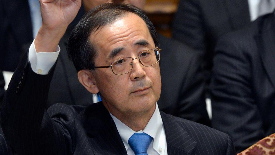 Letzter Auftritt: Japans bisheriger Notenbankchef Masaaki Shirakawa hat das Zinsniveau in Japan bei seiner letzten Notenbanksitzung konstant gehalten