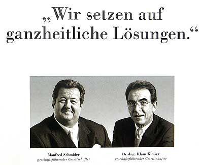 Manfred Schmider und Klaus Kleiser (Bild aus einer Broschüre von Flowtex)