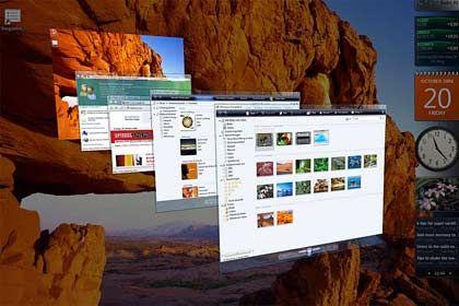 Erzfeind zu Gast: Vista kann auch im Vollbild auf dem Apple dargestellt werden
