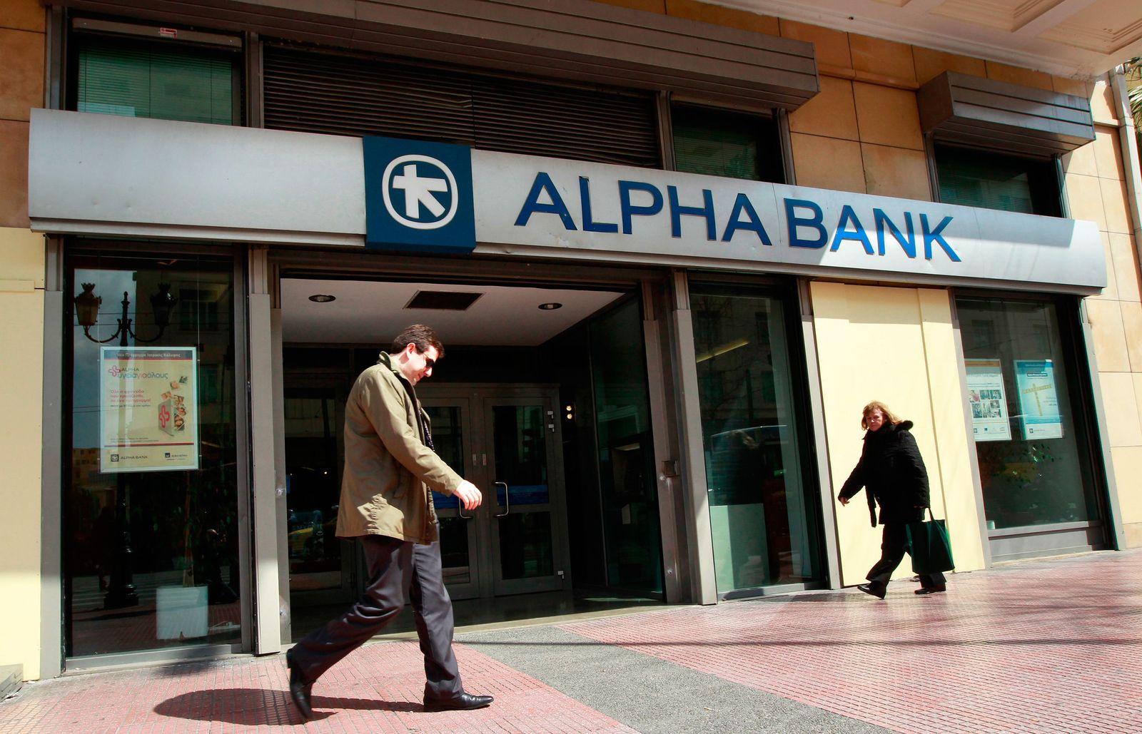 Griechenland / Finanzkrise / Alpha bank