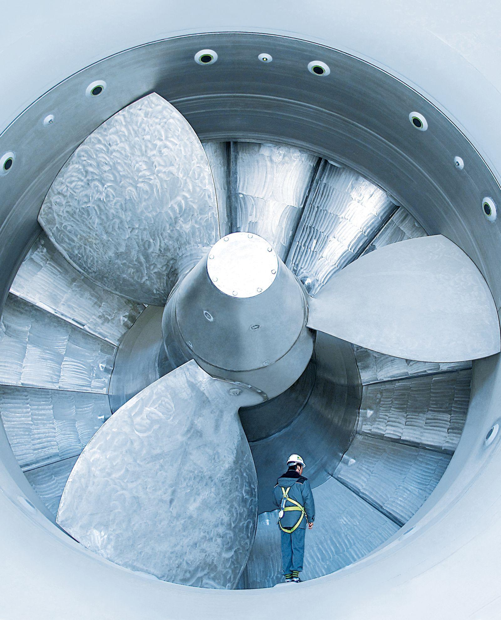 Andritz / Gezeitenkraftwerk Turbine Rohrturbine
