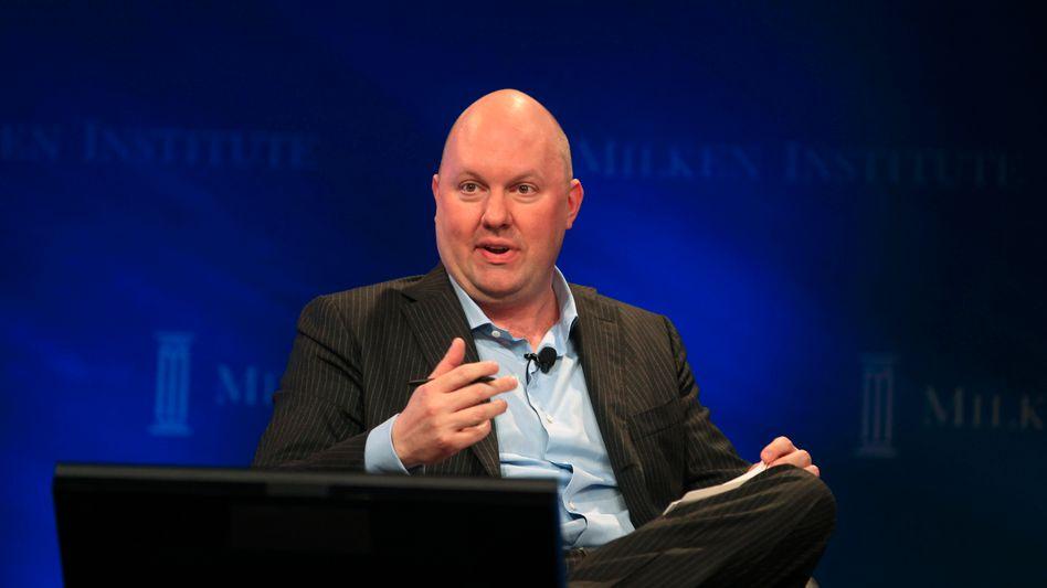 """""""Die Märkte werden drehen, dann werden wir sehen, wer nackt ist"""": Marc Andreessen, Mitgründer und Partner bei Andreessen Horowitz, ist im Silicon Valley einer der einflussreichsten Investoren"""