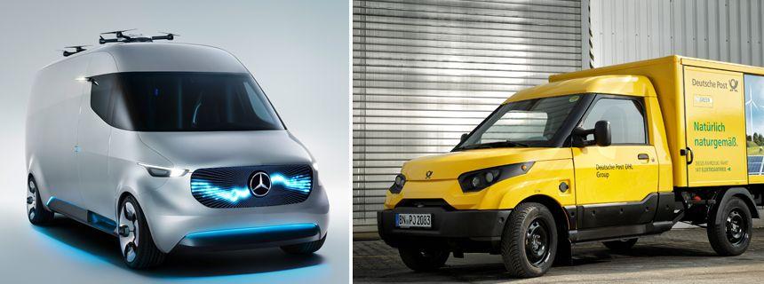 KOMBO Daimler Van Studie und StreetScooter Deutsche Post