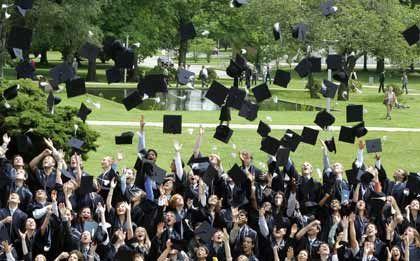 Potenzielle Angestellte: Abschlussfeier von Studenten