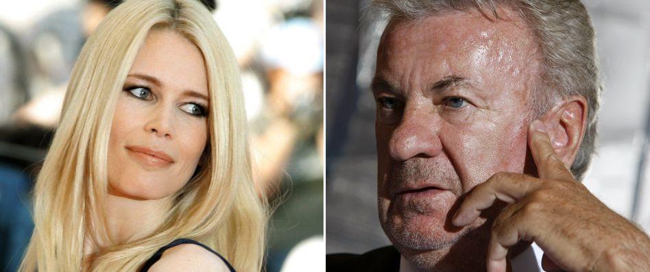 Streit um Kiefern: Claudia Schiffer und Willi Weber