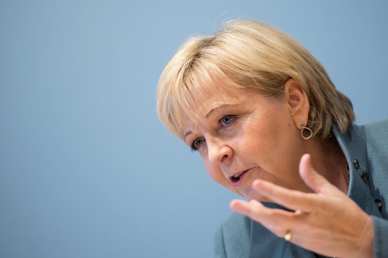 Hannelore Kraft fordert/