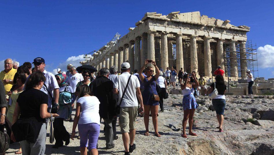 Akropolis in Athen: Zumindest auf kurze Sicht findet Griechenland genug Investoren
