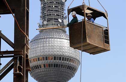 Es geht abwärts: Die Bauindustrie leidet besonders unter der Konjunkturschwäche