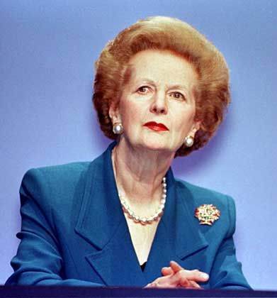 Risikofreudig: Die ehemalige britische Premierministerin Maggie Thatcher