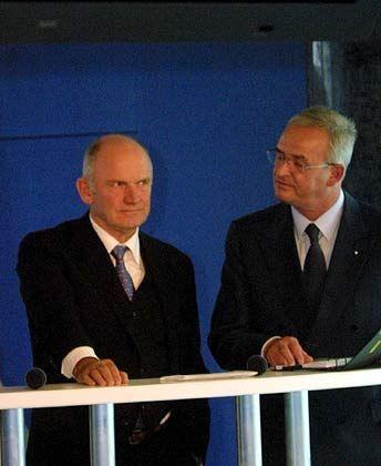 Der Aufpasser und sein Lieblingsschüler: Audi-Chef Winterkorn (rechts) steht unter dem Schutz von Piëch