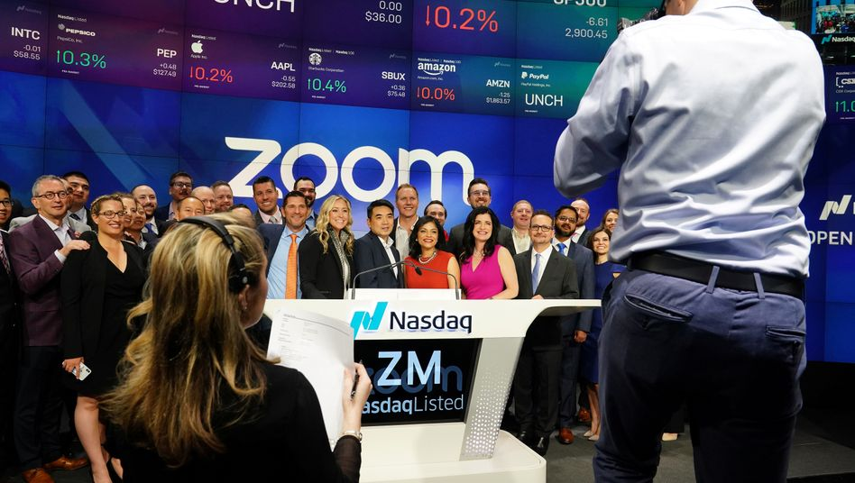Börsengang von Zoom im April 2019: Das Unternehmen ist einer der wenigen Gewinner der Corona-Krise
