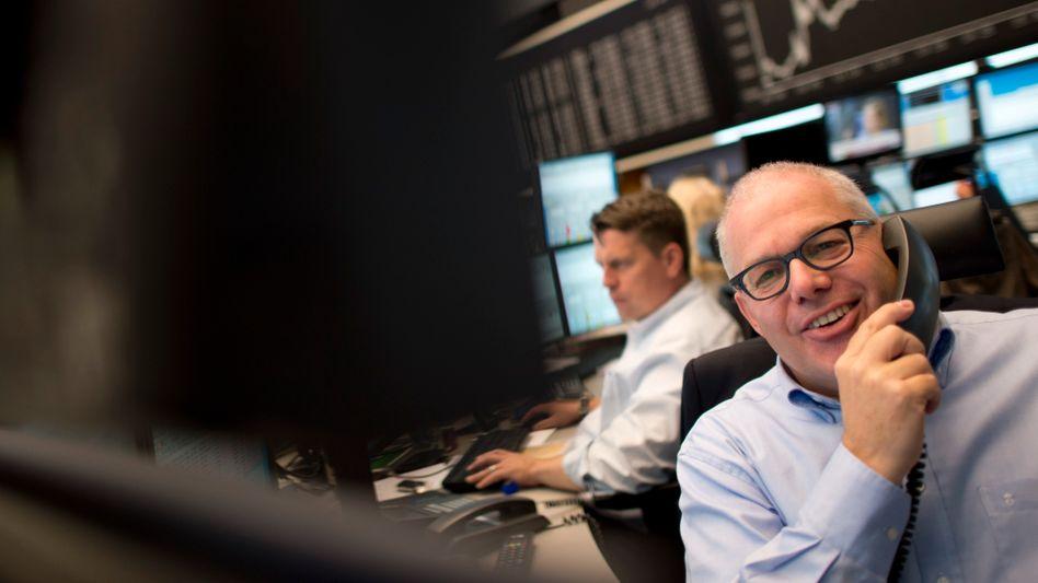 Händler in Frankfurt: Gute Stimmung an der Börse