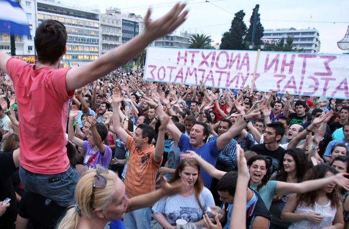 Verlorene Generation: Gut die Hälfte der Griechen unter 25 Jahren (Archivbild) ist arbeitslos. Immer mehr qualifizierte und arbeitsuchende junge Menschen verlassen das Land