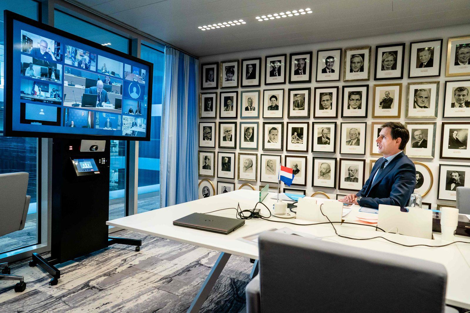 Euro Finanzminister / Videokonferenz / Wopke Hoekstra