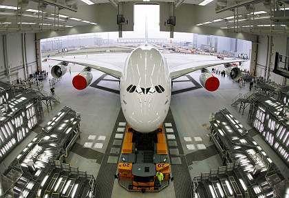 Riesenflieger: Teile des A380 werden auch in Hamburg montiert