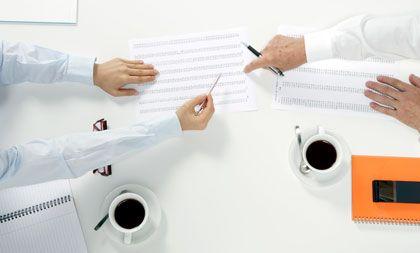 Im Meeting: Wichtig ist der Check der Unternehmenskennzahlen