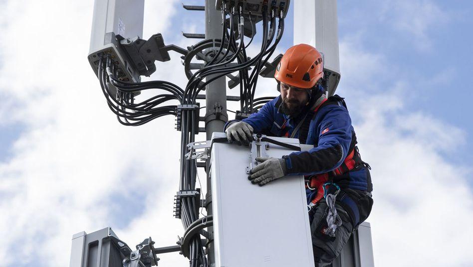 Antennen für 5G-Netzwerk in der Schweiz.