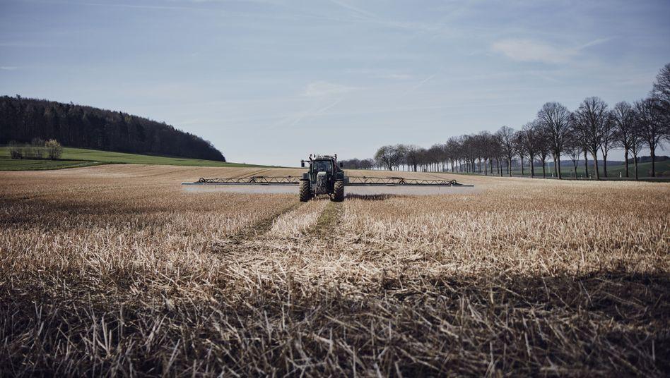 Ein niedersächsischer Bauer bringt Glyphosat aus (Archivaufnahme)